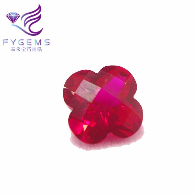 Ruby Merah Manik-manik Batu Permata <span class=keywords><strong>Plum</strong></span> Cutting Merah Ruby Batu Custom-Made Perhiasan