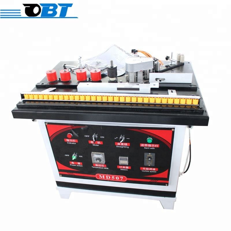 Portable wood pvc manual small straight curve edge banding machine with best price for sale