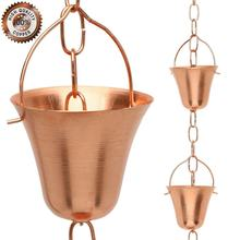 Out Door Metal solid copper Rain Chain Copper Gutter Rain Chain Copper Rain Chain
