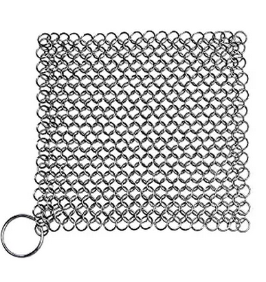 Blisstime Gietijzeren Cleaner XL 7x7 Inch Premium Rvs <span class=keywords><strong>Chainmail</strong></span> <span class=keywords><strong>Scrubber</strong></span>
