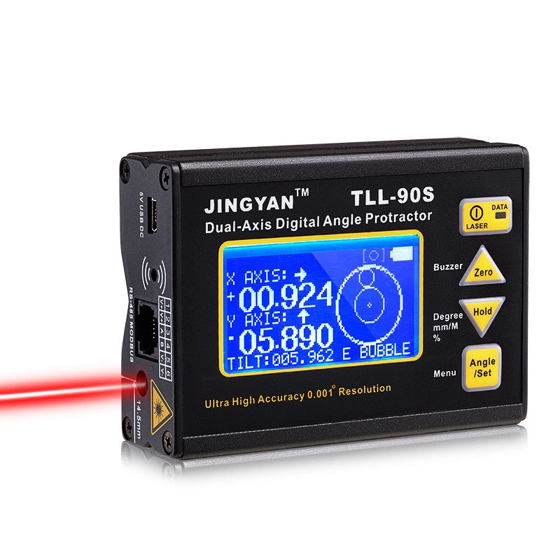 Jingyan High Precision 0.005 Laser Electron Level Instrument TLL-90S Digital Display Biaxial Inclinometer digital protractor