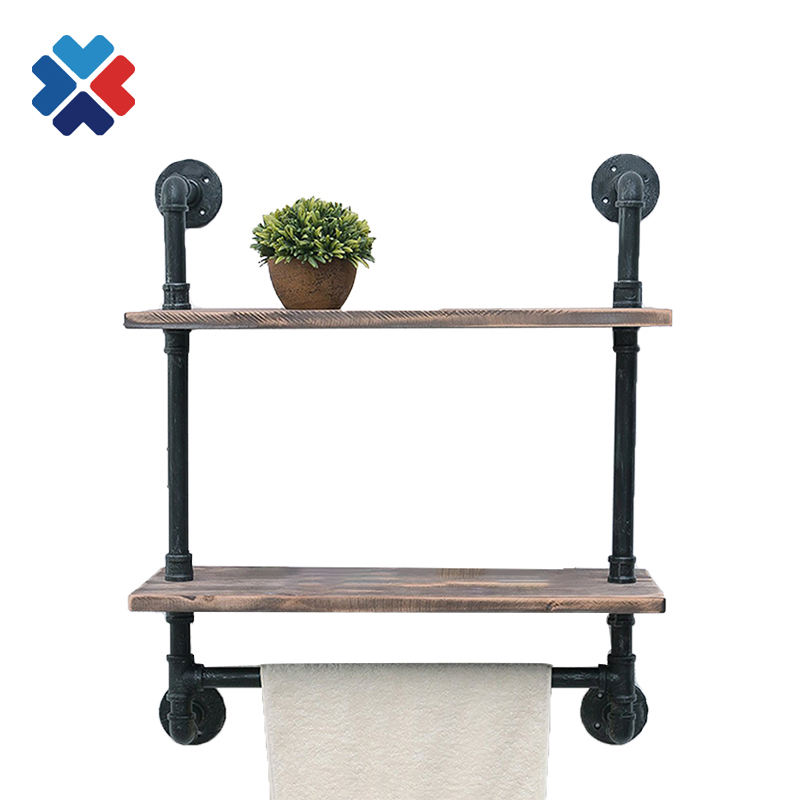 Steel pipe bar stools industrial pipe bar table for clamp pipe fittings towel and toliet paper holder