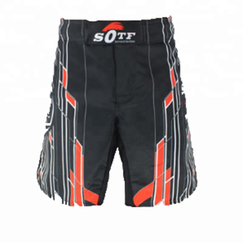 New Boxing Shorts Muay Thai Kick Trunks Satin Trousers 3Line M-3XL