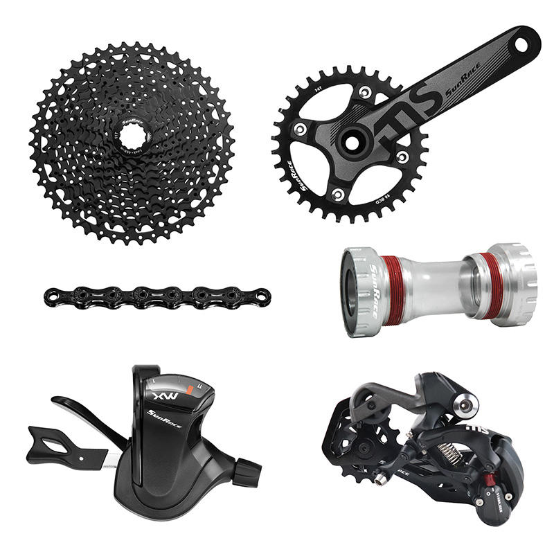 Sunrace 11 Speed CSMS8 11-50T Bicycle Groupset Mtb Bike Cassette Shifter Rear Derailleur 110L Chain 36T Crankset Bottom Bracket