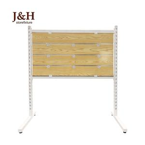 Stand Metall Aufrecht MDF Slatwall Display Rack Lamellen Panel Display Stand für Retail Store