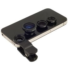 Portable 3 in1 Fisheye Lens Macro Wide Angle Mobile Phone Camera Lens for Cell Phone Camera