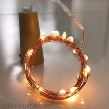 LED button battery light copper wire bottle lights Mini led lights for crafts