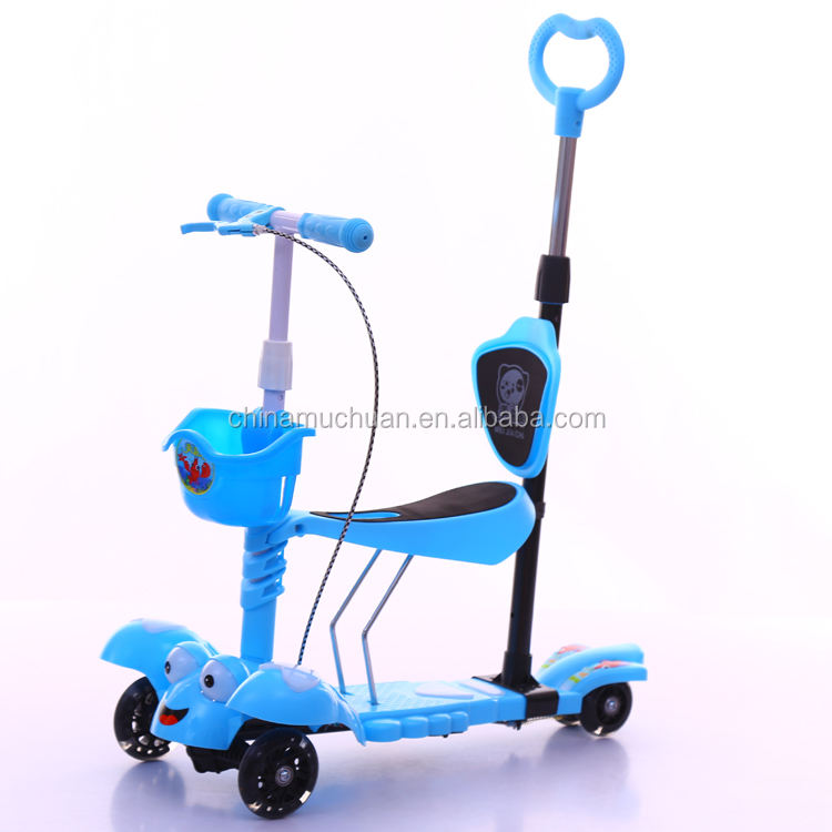 2017 Factory wholesale cheap price hot selling child kick scooter baby push scooter kids seated scooter