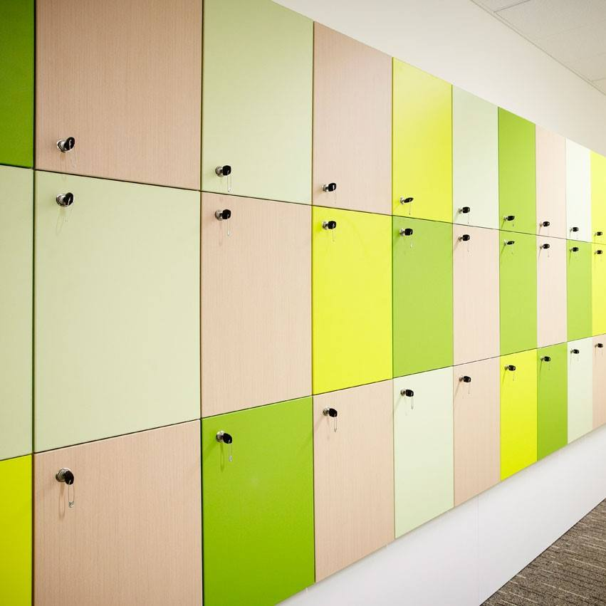 Hpl Compact Laminate Lockers In China, Good Quality Laminated Sheets Steel Locker