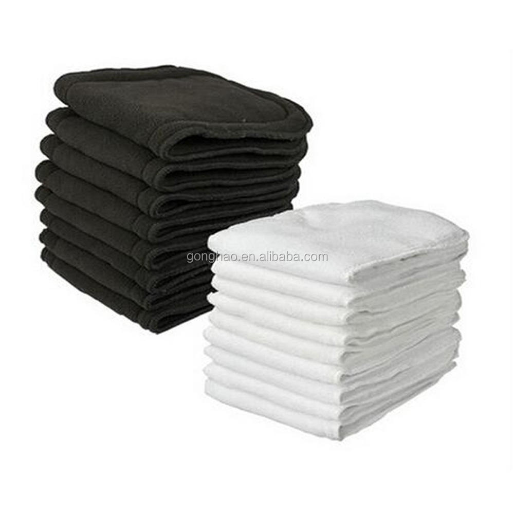 Naturally Cloth Diaper Inserts 5 Layer Charcoal Bamboo Reusable Liners for Cloth Diapers