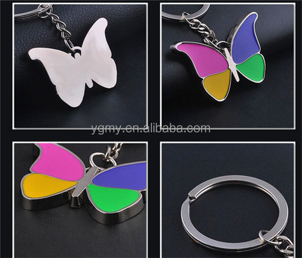 Alloy Insects Series Shape Butterfly Keychain Car Key Chain Women's key Chains