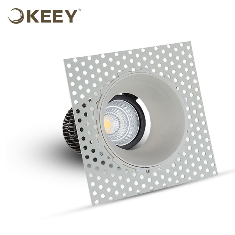hot sale keey factory trimless adjustable cob ceiling spot light round light ceiling lamp 12w modern ceiling light WB1203