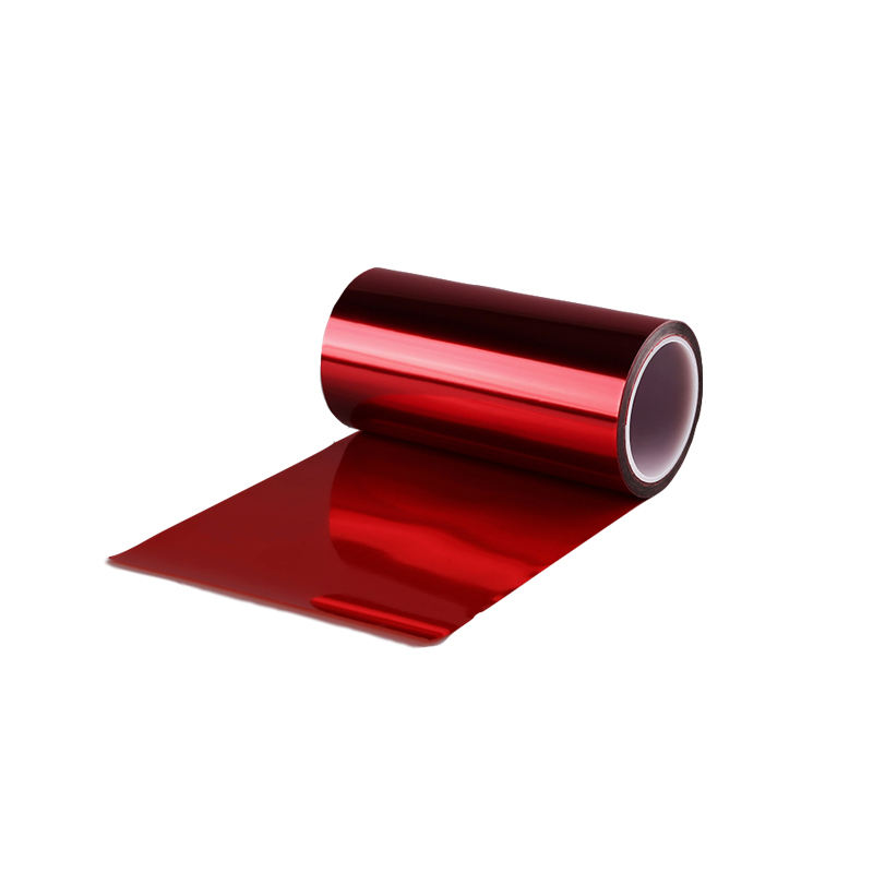 Factory price red silicone coated release film for packaging