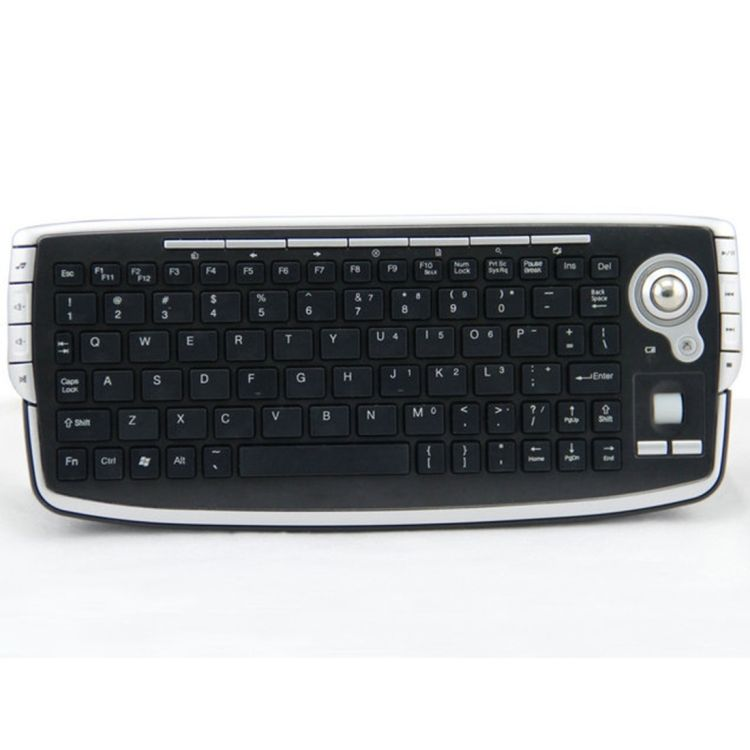 2.4G Wireless Trackball Air Mouse Mini Keyboard Combo for Home TV