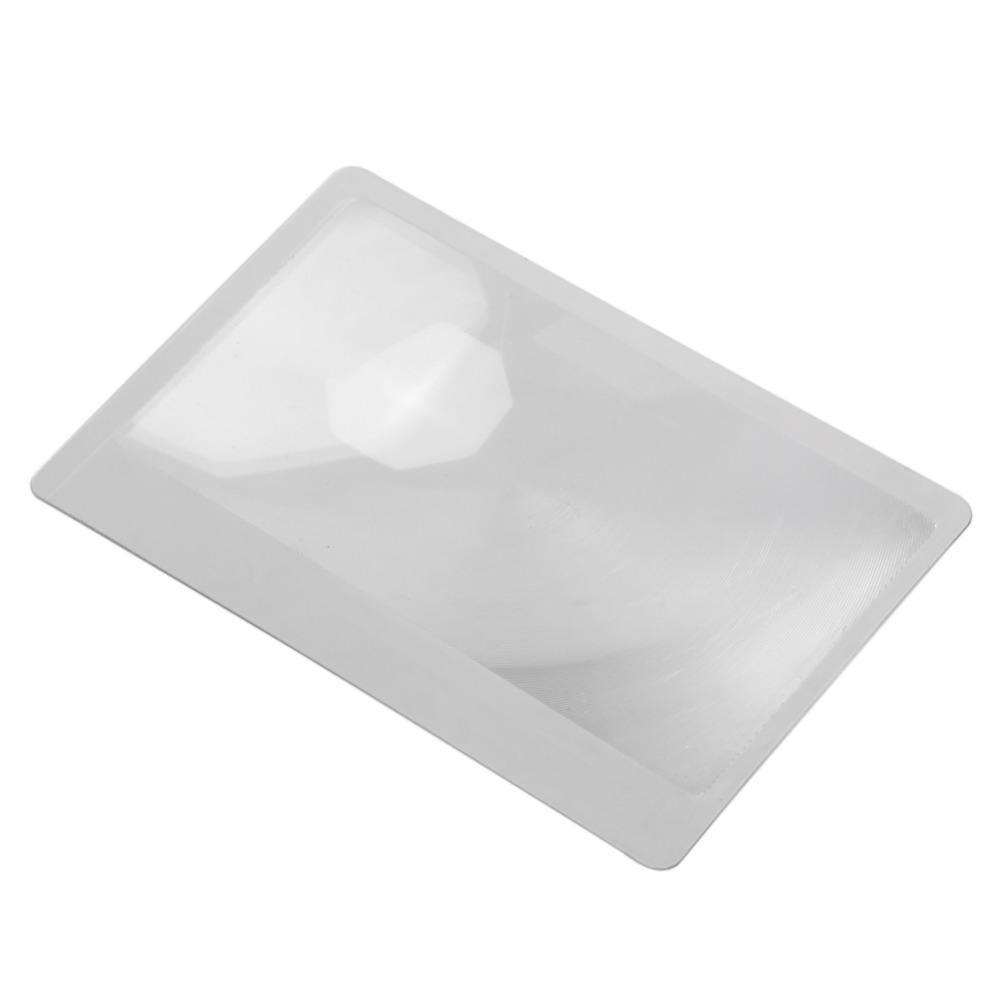 Magnifier Credit Card 3X Magnification Magnifying Fresnel LENS 80*55ミリメートル拡大鏡ガラス