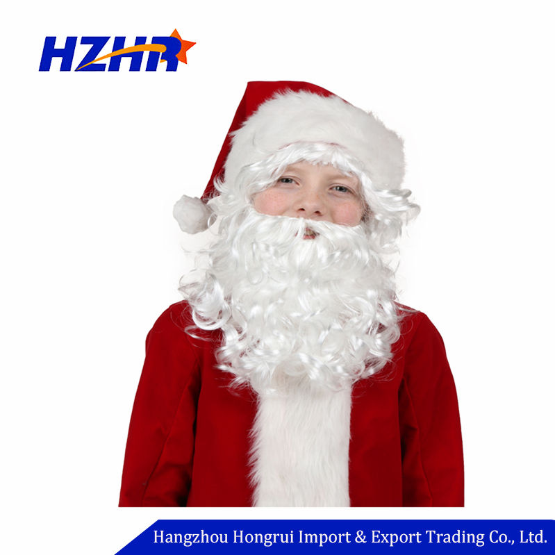 Christmas Decorations santa claus beard and wig