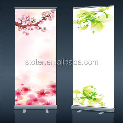 Aluminium Brede Basis Goedkope Reclame Promotionele Pull Up Banner Stand Hoge Kwaliteit Roll Up Banner Zand
