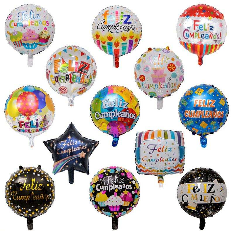 Feliz Cumpleanos Customized Wholesale Helium Aluminum Foil Balloon