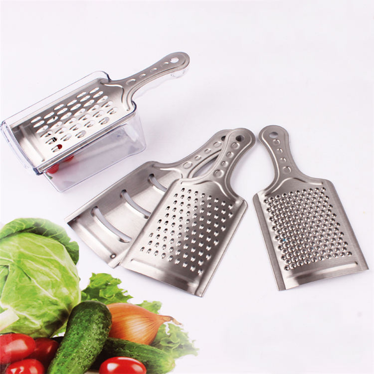 kitchen accessories 4 in 1 set Manual Vegetable Cutter speedy Slicer Dicer cheese grater with plastic box