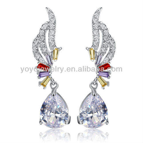 Fashion classic crystal earrings antique jhumka earrings fish shaped earrings
