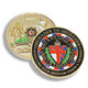 Hot ! Creative 3d Custom Military Metal Challenge Coin Stamping Enamel for Souvenir Gifts
