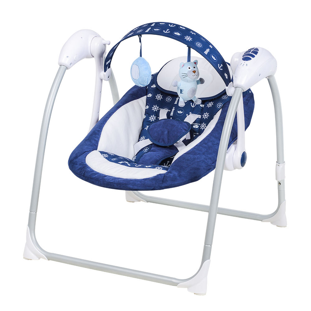 Baby Swing Seat Infant Toddler Rocker Chair Portable Convertible Cradle with Toys Music Sound baby crib bedding set babies cribs