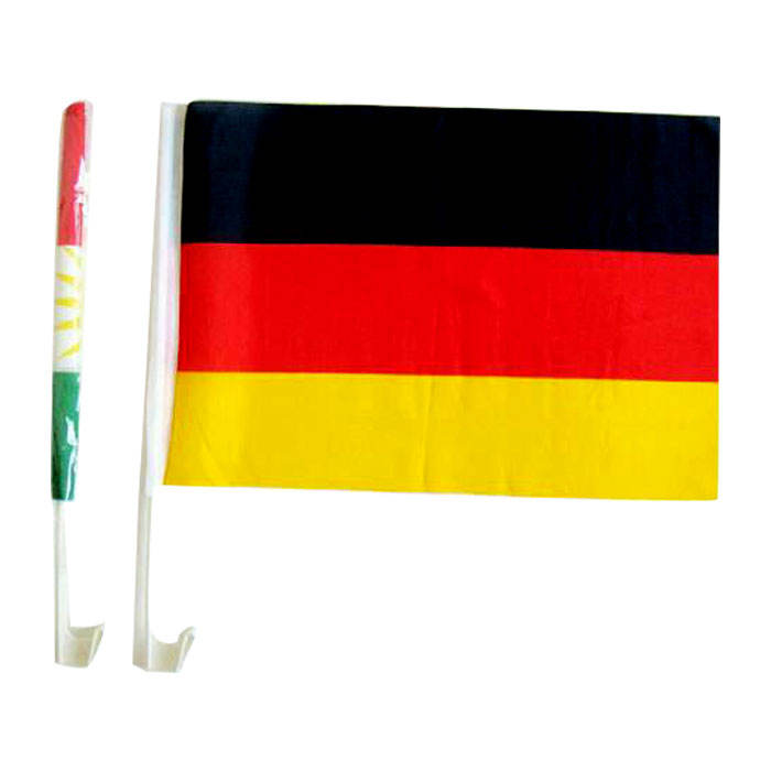 China Factory Direct Sale Printing Custom Cheap Polyester Fabric Car Side Window Banner Country German Car Window Flag