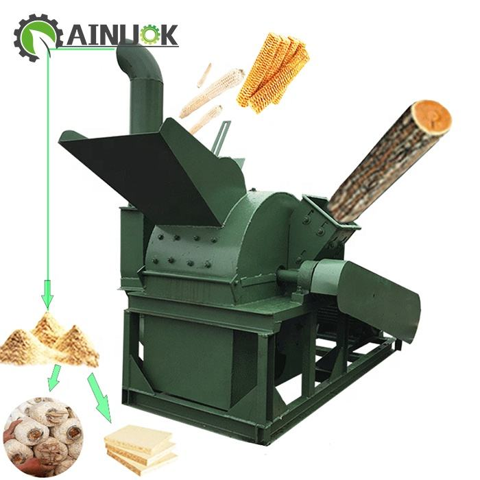 Stable performance wood branch crushing machine for biomass wood