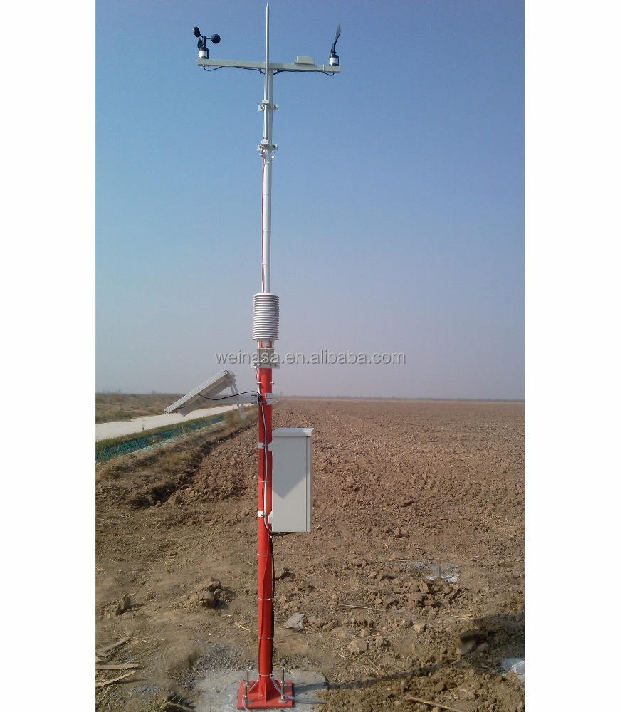 Multifunctionele super professionele automatische weer monitoring station met weerstation sensoren