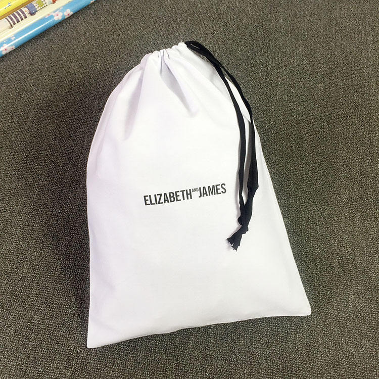 NATURAL CLOTH GIFT PACKAGING DRAWSTRING DUST PRINTED CUSTOM STRING PRODUCE COTTON MUSLIN BAGS