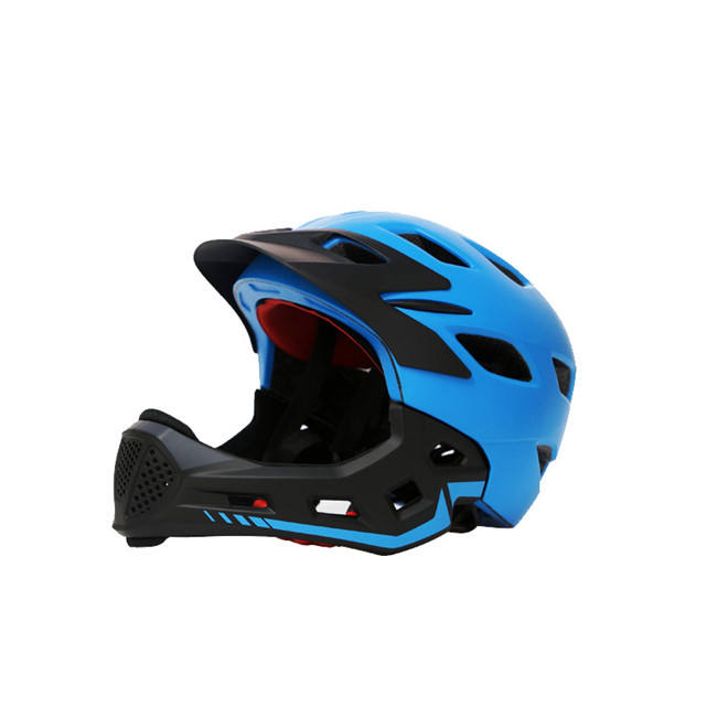 Wholesale New Style Children Full Face Bike Helmet With Removable Chin Guard