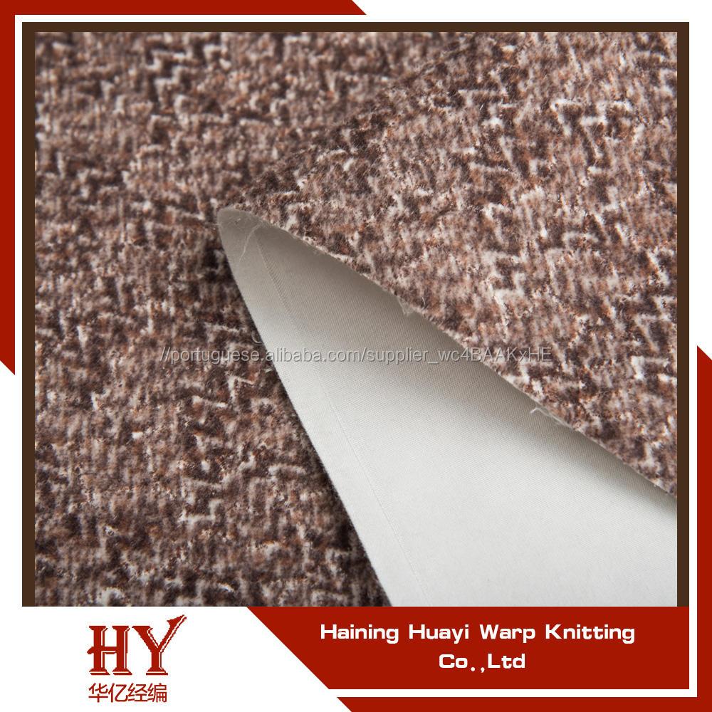 Amostra é livre manter quente curto floss tecidos para estofamento de sofá