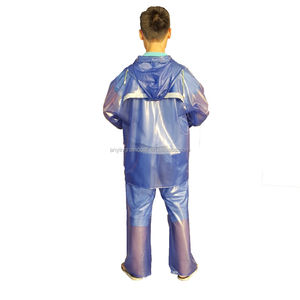 Printed Disposable Rain Poncho Clear PVC Raincoat suits