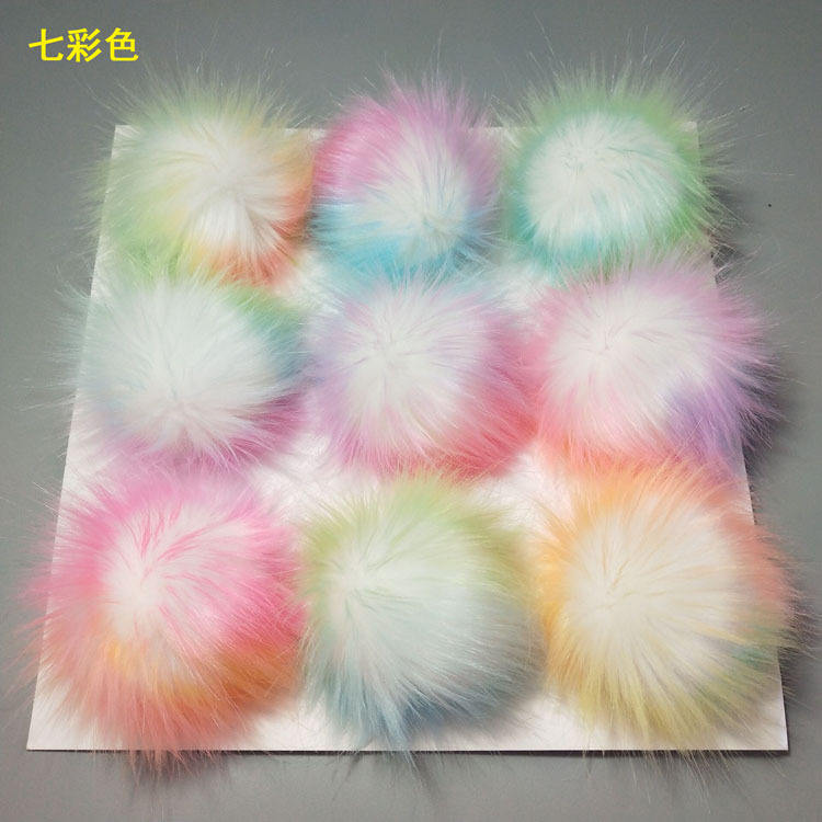 15cm Pom Pom elastic For Beanie Hats, Wholesale Snap On Pompom, Detachable Faux Fur Ball/ Fake Fur Pompoms For Keyring / Bag