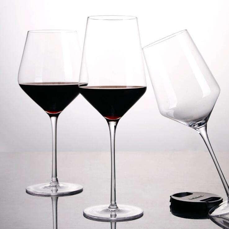 Set of 4 Embossed Gold Art Deco Luxury Red or White Wine Goblet Glasses 480ml