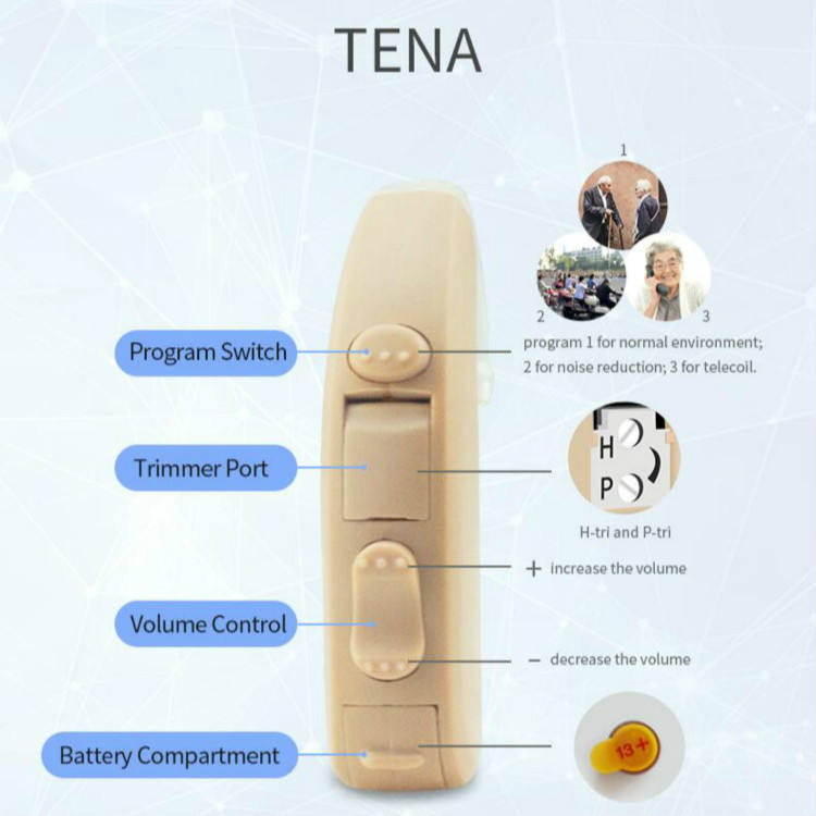Cheap hearing aid Sound amplifier for hearing lost people BTE High power
