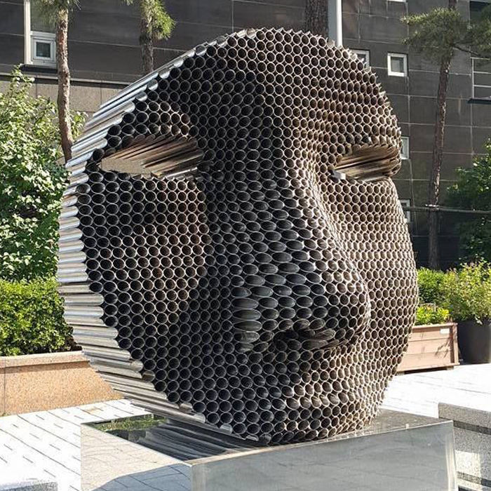 Face Modern Home Decoration Stainless Steel Sculpture