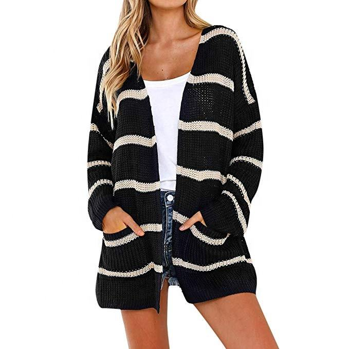 high quality custom long sleeve ladies women long cardigan sweater coat knitwear women knitwear