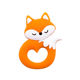 Newest Animal Silicone Fox Necklace Pendant Food Grade Teething Toys Baby Teether