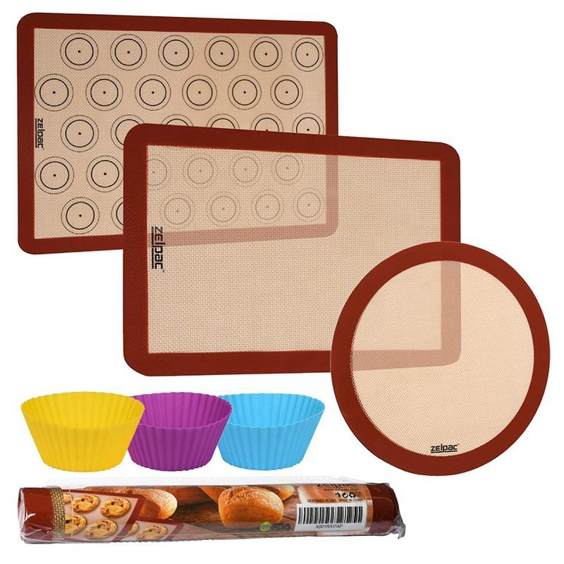 Alibaba Best sellers 40% Thicker Custom Kitchen Bakeware Nonstick Silicone Baking Mat For Cookie Sheets