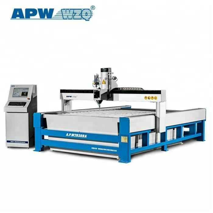 Water jet ceramic tile cutting machine with five-axis cutting head