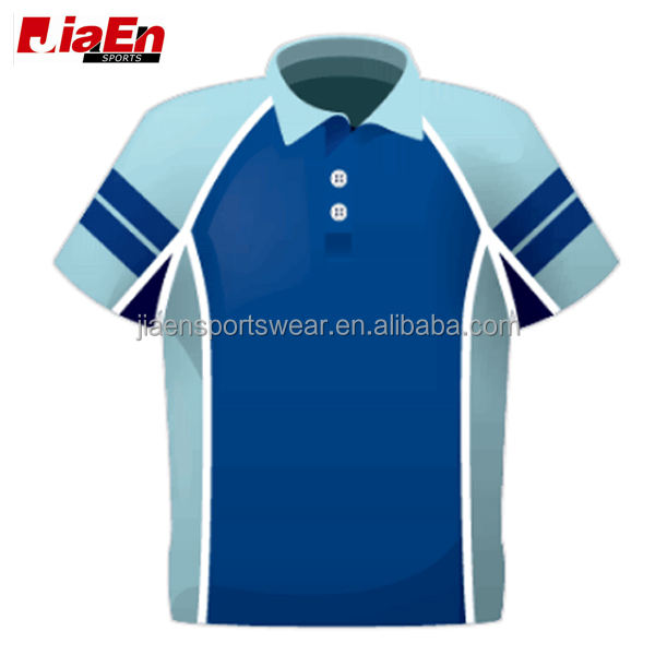 No.1 Fashion Brands Best Design Sublimation All Cricket Team Uniforms, Custom Cheap Blue Cricket Jersey