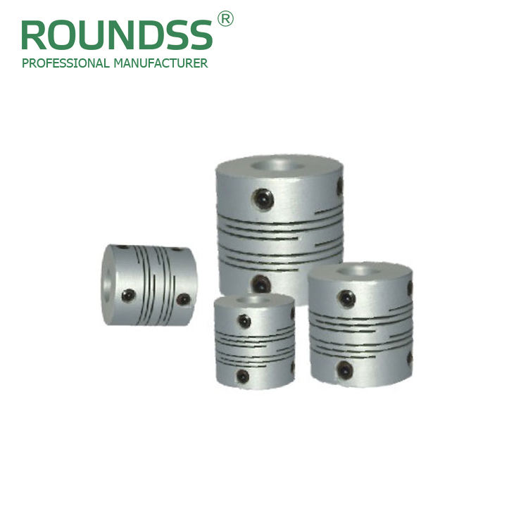 rongde unique design RD8S cnc machine high duty aluminium parallel screw type motor shaft flexible coupling