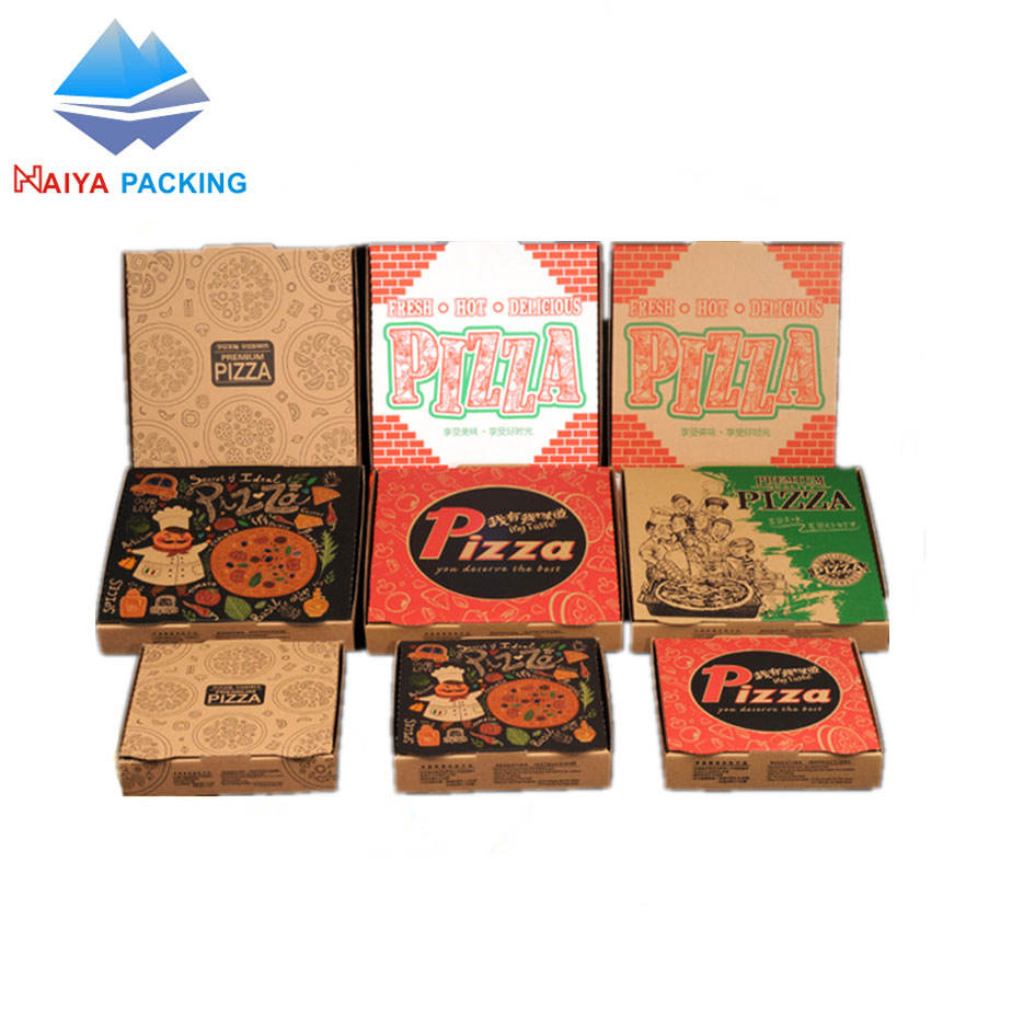 Beste Sales Craft Papier Karton Papier 9 inch Pizza slice levering Doos