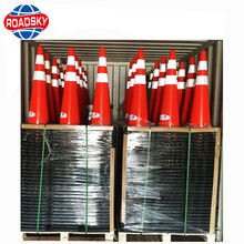 Flexible Orange PVC Traffic Cone Weights Manufacturers Road Safety Traffic Cone