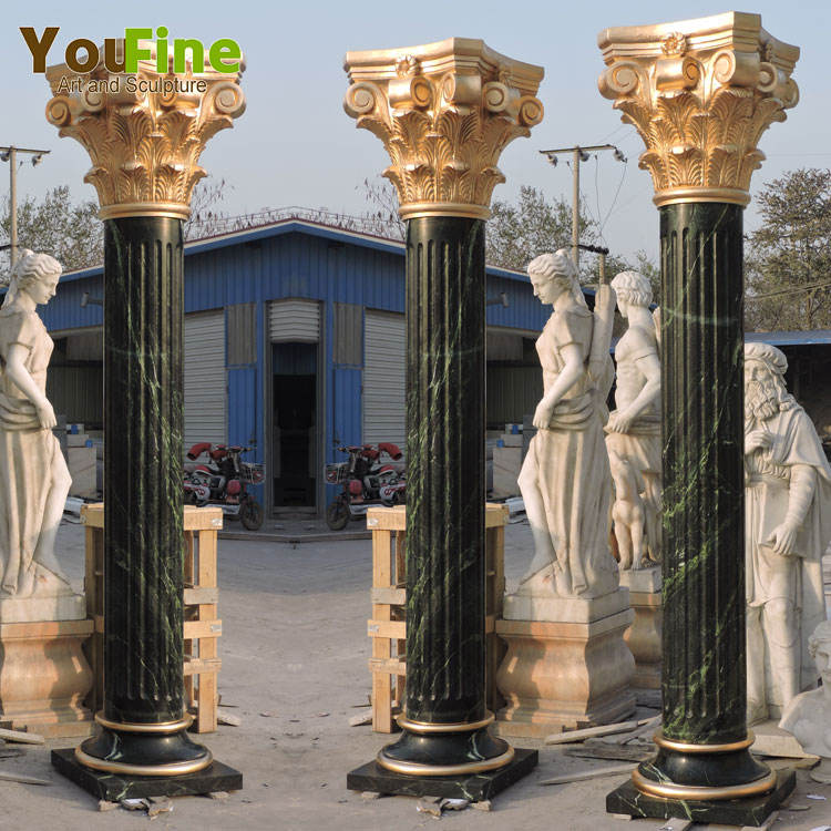 Wholesale Decorative Round Pillar Outdoor Marble Columns