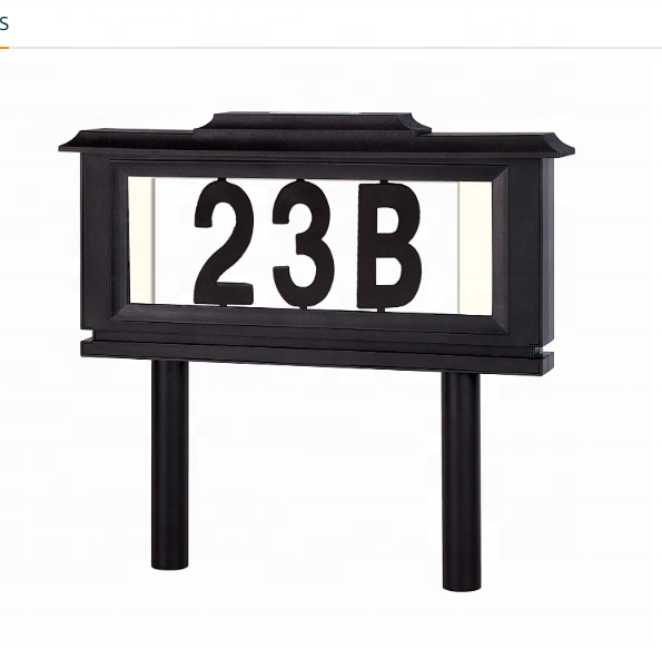 Waterproof LED Street Solar Powered Address Number Sign Light