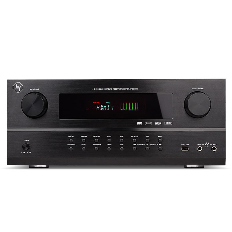 2017 new product av receiver 5.1 with fm radio with bluetooth receiver