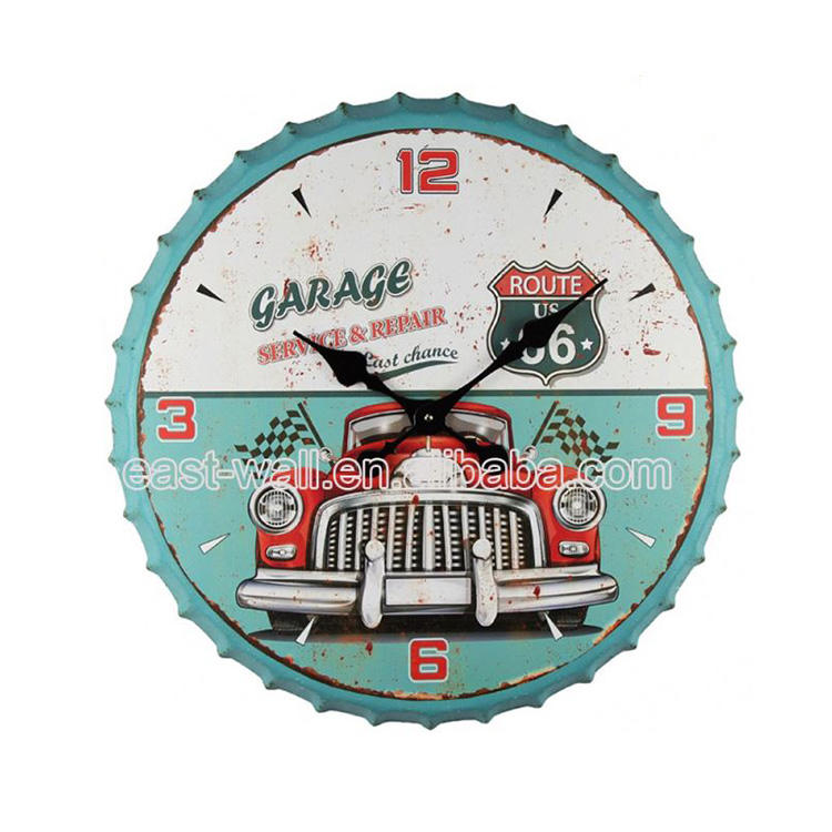 Innovative Style Fancy Design Custom Fit Rustic Wall Led Clock