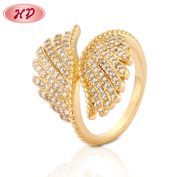 Trending Beauty Products Jewelry Gold Plated Circular Shape Love Ring Women